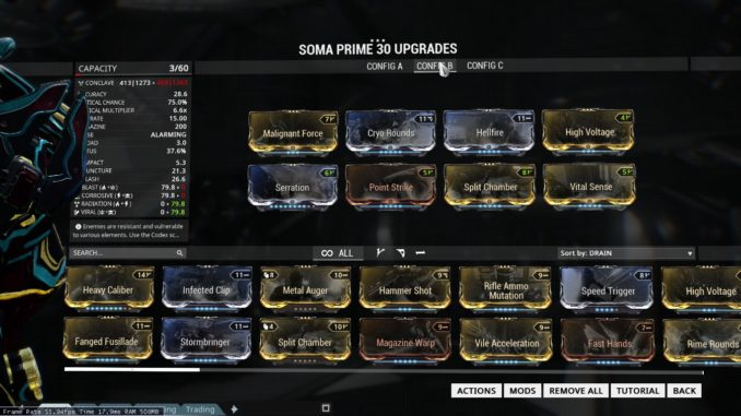 Warframe - Soma Prime Build Guide -